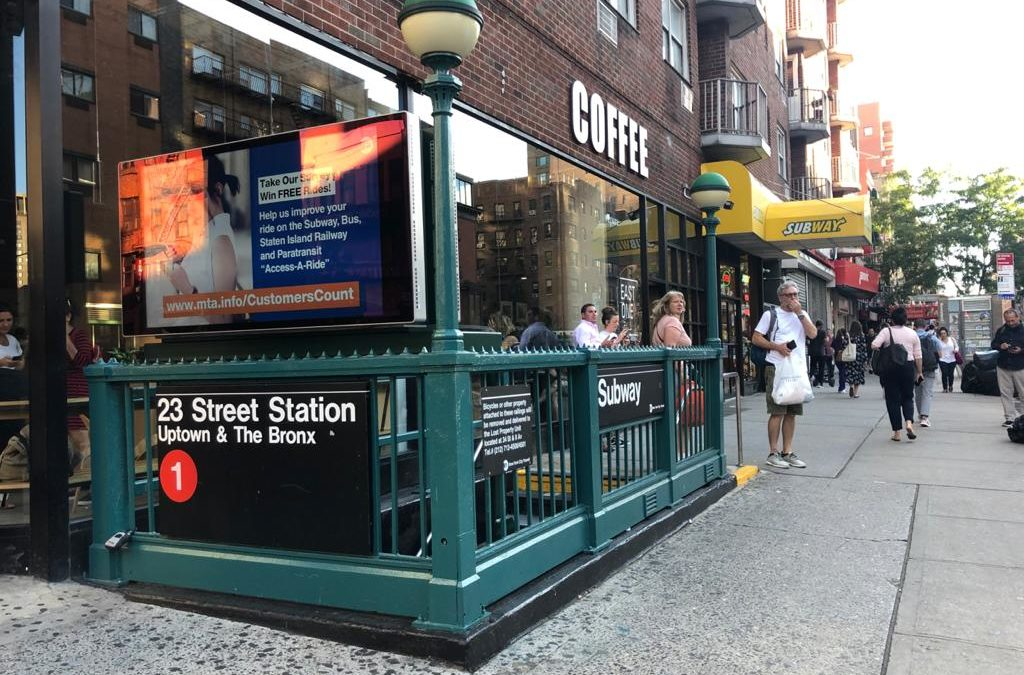 Subway entrance in New York